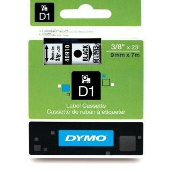 Originální páska DYMO 40910 (S0720670), 9mm, černý tisk na průsvitném podkladu