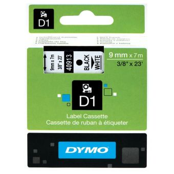 Originální páska DYMO 40913 (S0720680), 9mm, černý tisk na bílém podkladu