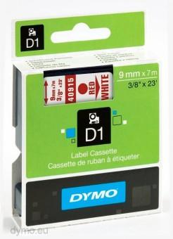 Originální páska DYMO 40915 (S0720700), 9mm, červený tisk na bílém podkladu