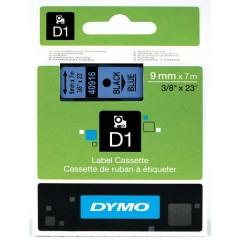 Originální páska DYMO 40916 (S0720710), 9mm, černý tisk na modrém podkladu