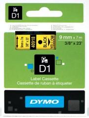 Originální páska DYMO 40918 (S0720730), 9mm, černý tisk na žlutém podkladu