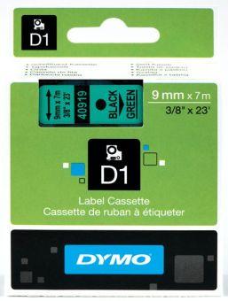 Originální páska DYMO 40919 (S0720740), 9mm, černý tisk na zeleném podkladu