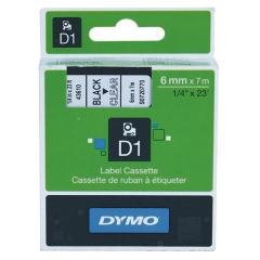 Originální páska DYMO 43610 (S0720770), 6mm, černý tisk na průsvitném podkladu