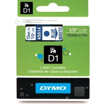 Originální páska DYMO 45014 (S0720540), 12mm, modrý tisk na bílém podkladu