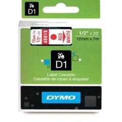 Originální páska DYMO 45015 (S0720550), 12mm, červený tisk na bílém podkladu