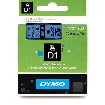 Originální páska DYMO 45016 (S0720560), 12mm, černý tisk na modrém podkladu