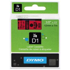 Originální páska DYMO 45017 (S0720570), 12mm, černý tisk na červeném podkladu