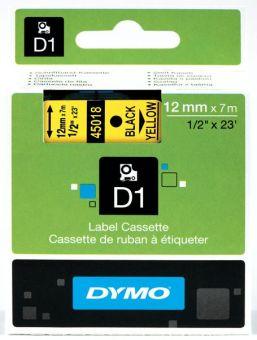 Originální páska DYMO 45018 (S0720580), 12mm, černý tisk na žlutém podkladu
