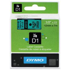 Originální páska DYMO 45019 (S0720590), 12mm, černý tisk na zeleném podkladu
