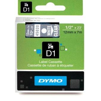 Originální páska DYMO 45020 (S0720600), 12mm, bílý tisk na průsvitném podkladu