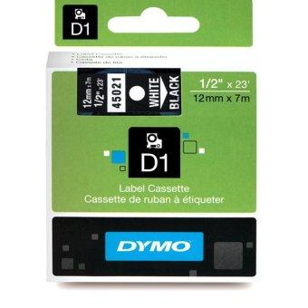 Originální páska DYMO 45021 (S0720610), 12mm, bílý tisk na černém podkladu