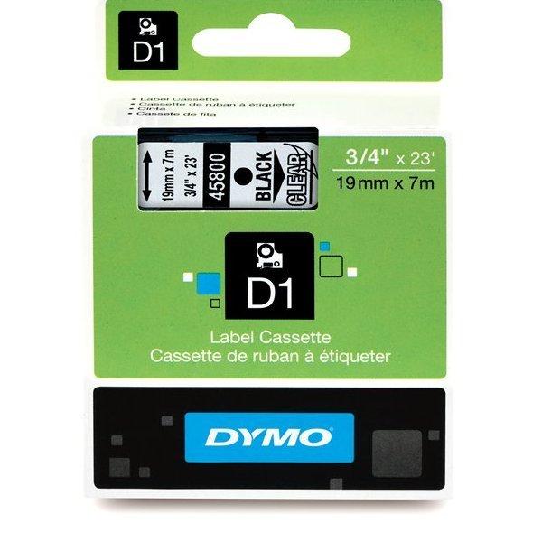 Originální páska DYMO 45800 (S0720820), 19mm, černý tisk na průsvitném podkladu