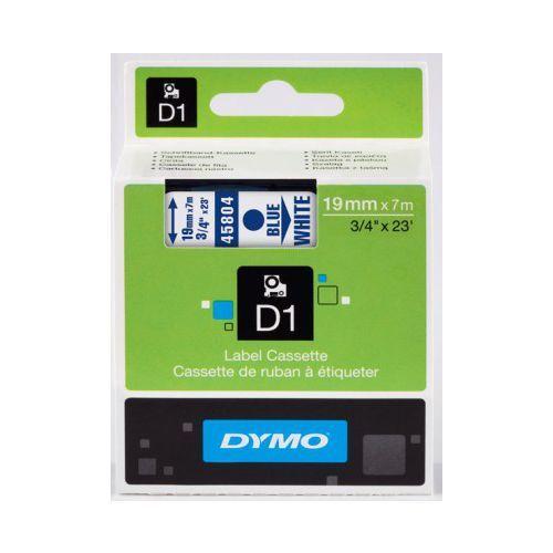 Originální páska DYMO 45804 (S0720840), 19mm, modrý tisk na bílém podkladu