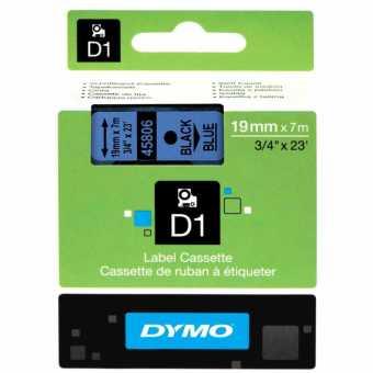 Originální páska DYMO 45806 (S0720860), 19mm, černý tisk na modrém podkladu