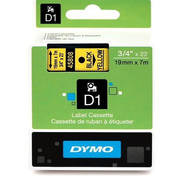 Originální páska DYMO 45808 (S0720880), 19mm, černý tisk na žlutém podkladu