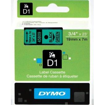 Originální páska DYMO 45809 (S0720890), 19mm, černý tisk na zeleném podkladu