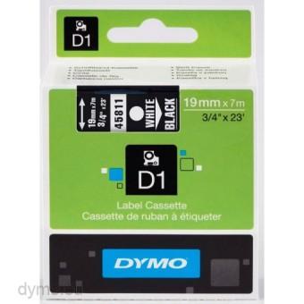 Originální páska DYMO 45811 (S0720910), 19mm, bílý tisk na černém podkladu