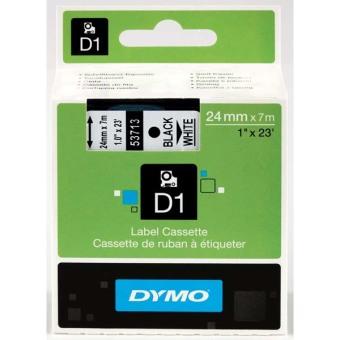 Originální páska DYMO 53713 (S0720930), 24mm, černý tisk na bílém podkladu
