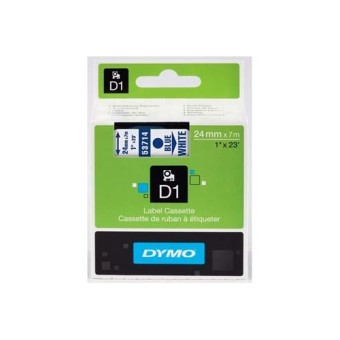 Originální páska DYMO 53714 (S0720940), 24mm, modrý tisk na bílém podkladu