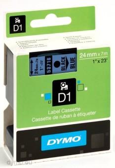 Originální páska DYMO 53716 (S0720960), 24mm, černý tisk na modrém podkladu