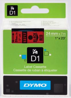 Originální páska DYMO 53717 (S0720970), 24mm, černý tisk na červeném podkladu