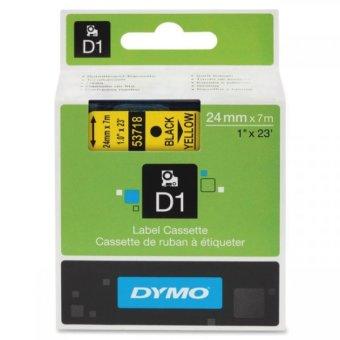 Originální páska DYMO 53718 (S0720980), 24mm, černý tisk na žlutém podkladu
