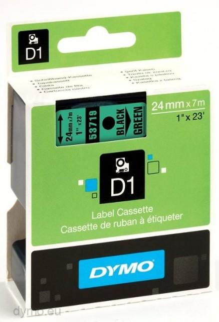Originální páska DYMO 53719 (S0720990), 24mm, černý tisk na zeleném podkladu