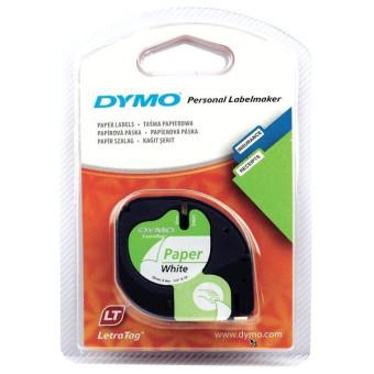 Originální páska DYMO 59421 (S0721500), 12mm, černý tisk na bílém podkladu, papírová