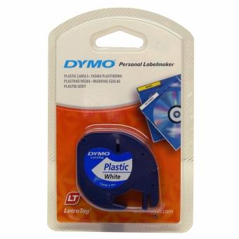 Originální páska DYMO 59422 (S0721560), 12mm, černý tisk na bílém podkladu, plastová