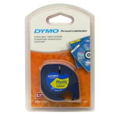 Originální páska DYMO 59423 (S0721570), 12mm, černý tisk na žlutém podkladu, plastová