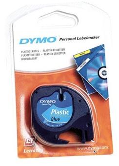 Originální páska DYMO 59426 (S0721600), 12mm, černý tisk na modrém podkladu, plastová