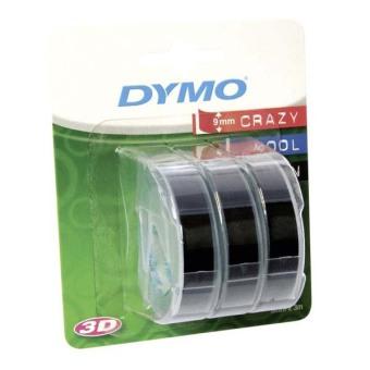 Originální páska DYMO S0847730, 9mm, bílý tisk na černém podkladu