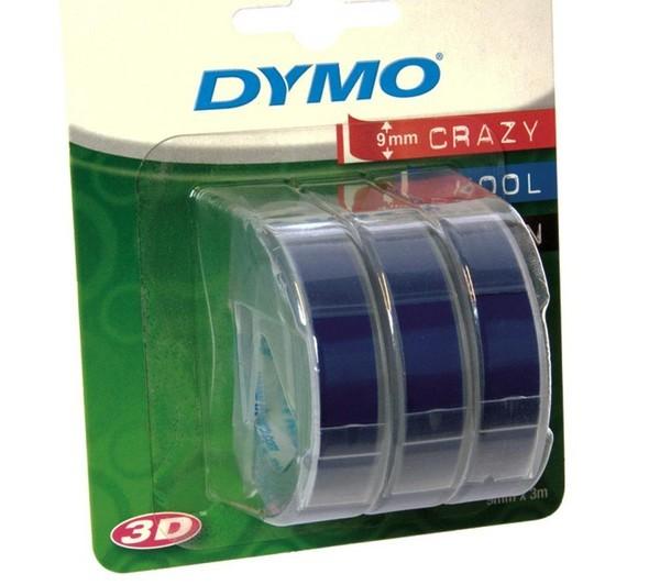 Originální páska DYMO S0847740, 9mm, bílý tisk na modrém podkladu