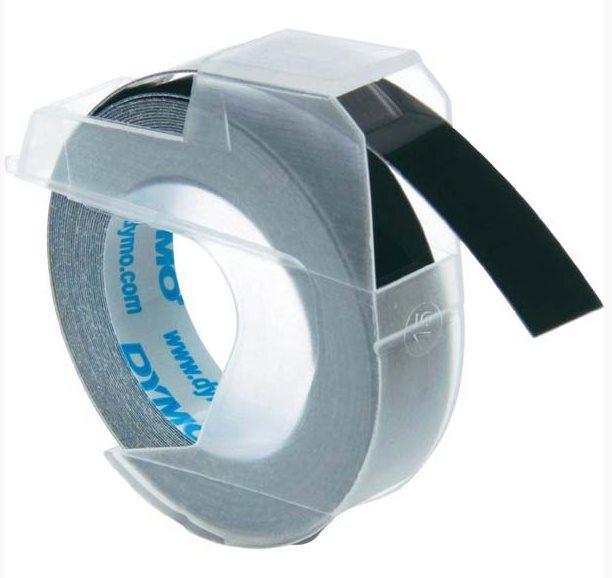 Originální páska DYMO S0898130, 9mm, bílý tisk na černém podkladu
