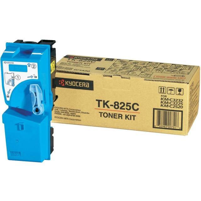 Originální toner Kyocera TK-825C (Azurový)
