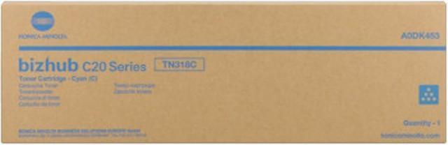 Originální toner Minolta TN-318C (A0DK453) (Azurový)