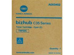 Toner do tiskárny Originální toner Minolta TNP- 22C (A0X5452) (Azurový)