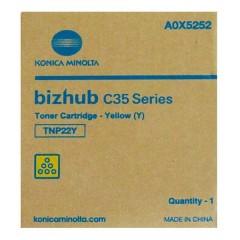 Toner do tiskárny Originální toner Minolta TNP- 22Y (A0X5252) (Žlutý)