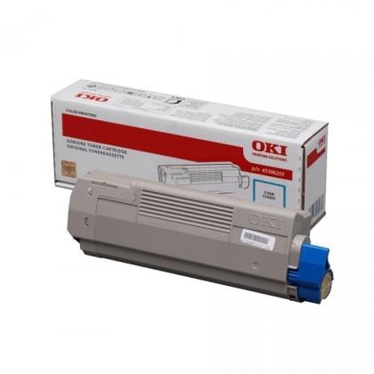 Originální toner OKI 45396203 (Azurový)
