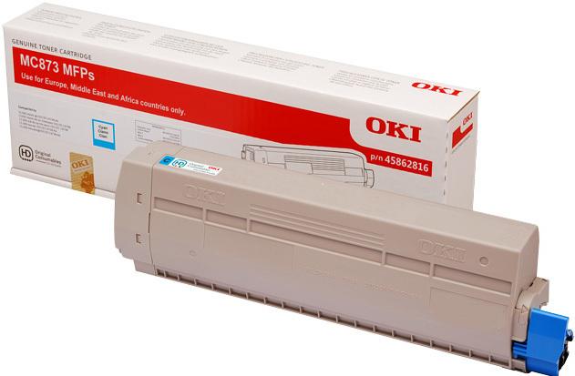 Originální toner OKI 45862816 (Azurový)