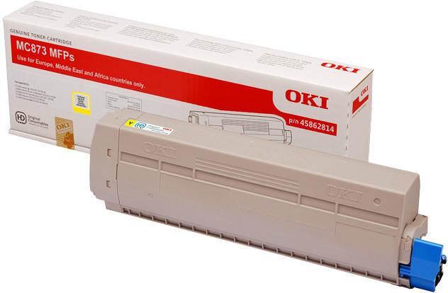 Originální toner OKI 45862814 (Žlutý)