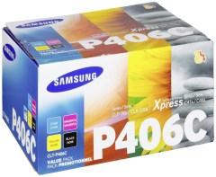 Originální tonery Samsung CLT-P406C (Černý + barevné) multipack