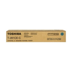 Toner do tiskárny Originální toner Toshiba T281CE C (Azurový)
