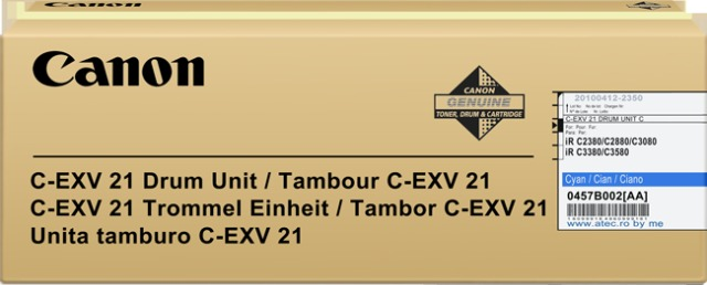 Originální fotoválec CANON C-EXV-21C (0457B002) (Azurový Drum)