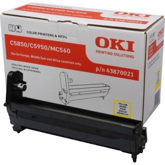 Originální fotoválec OKI 43870021 (Žlutý Drum)