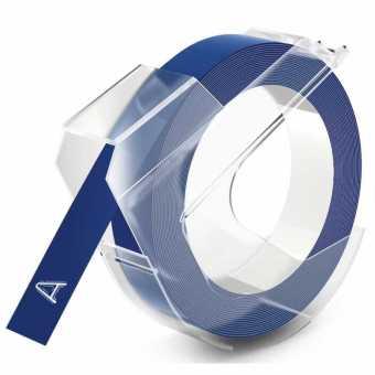 Originální páska DYMO S0898140, 9mm, bílý tisk na modrém podkladu