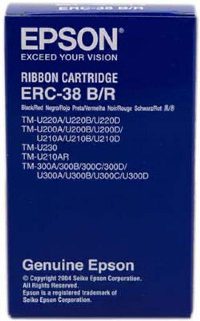 Originální páska Epson C43S015376, ERC 38 (černá, červená)