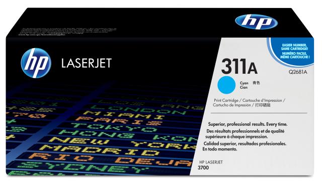 Originální toner HP 311A, HP Q2681A (Azurový)