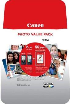 Sada originálních cartridge Canon PG-560XL+CL-561XL (Černá a barevná) + fotopapír