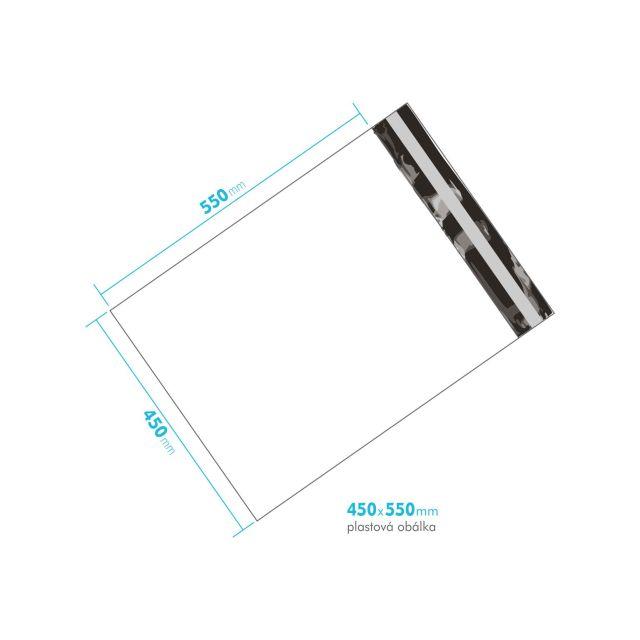 Plastová obálka 450x550 mm
